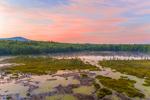 Sunrise over Meetinghouse Pond, Meetinghouse Pond Wildlife Sanctuary, Mount Monadnock in Distance, Marlborough, NH
