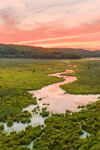 Thousand Acre Brook and Thousand Acre Swamp at Sunset, Phillipston, MA