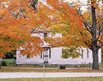 The Old Academy Building and Sugar Maples in Fall