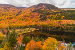 Beaver Pond, Mount Moosilauke, and Mount Blue in Fall, White Mountain National Forest, Woodstock, NH