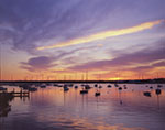 Sunrise and Sailboats in Vineyard Haven Harbor