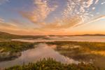 Ground Fog at Sunrise over Cummings Meadow Reservoir in Fall, Jaffrey, NH