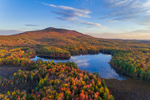Fall Foliage in Early Morning Light at Cummings Meadow Reservoir and Mount Monadnock, Jaffrey, NH