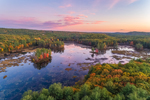 Sunset at Harvard Pond in Fall, Petersham, MA