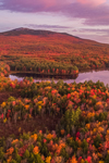 Sunrise over Cummings Meadow Reservoir and Mount Monadnock in Fall, Jaffrey, NH
