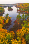 Early Morning Calm at Paradise Pond and Leominster State Forest in Fall, Princeton, MA