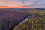 Millers River Winds Through Bearsden Forest Conservation Area at Sunset, Athol, MA