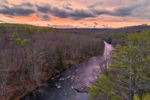 Sunset over Millers River and Bearsden Forest Conservation Area, Athol, MA