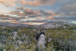 Sunrise over Millers River and Bearsden Forest Conservation Area after Fresh Snowfall, Athol, MA