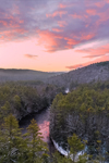 Colorful Sunrise over Millers River Flowing through Bearsden Forest Conservation Area, Athol, MA