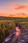 Millers River Flows through Bearsden Forest Conservation Area at Sunrise, Athol, MA