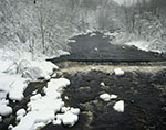 Millers River after a Heavy Snowstorm