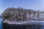 Early Morning Stillness at Mamjohn Pond Reservoir (aka Cowee Pond) after Fresh Snowfall, Gardner, MA