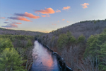 Millers River and Bearsden Forest Conservation Area at Sunset, Athol, MA