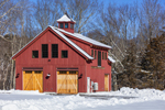 Red Barn in Winter, Plainfield, CT