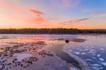 Winter Sunset at Royalston Eagle Reserve, Royalston, MA