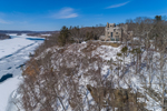 Gillette Castle and Connecticut River in Winter, Gillette Castle State Park, East Haddam and Lyme, CT