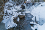 Waterfall at Vilas Pool on Cold River in Winter, Alstead, NH