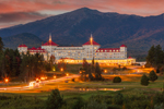 Mount Washington Hotel and Resort Lit Up at Night, White Mountains Region, Bretton Woods, Carroll, NH