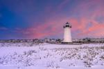 Sunrise at Edgartown Lighthouse after Snowstorm, Martha's Vineyard, Edgartown, MA