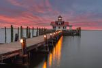 Roanoke Marshes Lighthouse at Sunrise, Part of North Carolina Maritime Museum, Roanoke Island Festival Park, Outer Banks, Manteo, NC