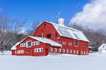 Big Red Barn in Winter under Sunny Skies, Landgrove, VT