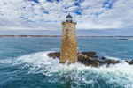 Whaleback Lighthouse at Mouth of Piscataqua River and Atlantic Ocean, National Register of Historic Places, Kittery, ME