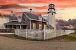 Highland Light (Cape Cod Light) at Sunset, Cape Cod National Seashore, Cape Cod, Truro, MA