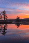 Colorful Sunrise Reflecting in Harvard Pond, Petersham, MA