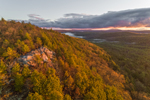 Sunrise View from Tully Mountain in Early Spring, Orange, MA