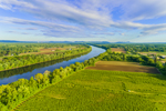 Farm Fields along the Connecticut River in Spring, View from Sunderland and Whately, MA