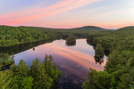 Sunrise Reflecting in Calm Waters of Paradise Pond, Leominster State Forest, Princeton, MA