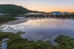 Early Morning Ground Fog at Sunrise over Elbow Pond, White Mountain National Forest, Woodstock, NH