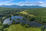 Coffin Pond with Cannon Mountain and Mount Lafayette in Distance, Franconia Range, White Mountains Region, View from Sugar Hill, NH