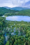Elbow Pond in Early Evening Light, White Mountain National Forest, View from Woodstock, NH