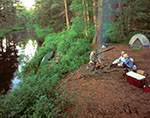 Camping on Oswegatchie River, Five Ponds Wilderness