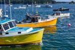 Colorful Lobster Boats in Stonington Harbor, Deer Isle, Stonington, ME