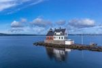 Rockland Breakwater Light in Early Morning, Rockland Harbor, West Penobscot Bay, Rockland, ME