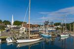 Boats in Camden Harbor, Camden, ME