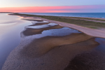 Sunrise at Norton Point Beach, Katama Bay and Atlantic Ocean, Martha's Vineyard, Edgartown, MA