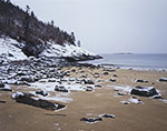 Fresh Snow at Great Head and Eastern End of Sand Beach, Acadia National Park