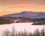 Mount Monadnock and Mountain Reservoir in Winter, Jaffrey, NH