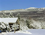 Farm and Mt. Monadnock in Winter
