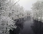 Snowstorm on the Tully River