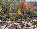 Highwater Trail Bridge and Wild River, White Mountain National Forest
