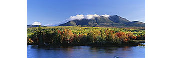Mt. Katahdin and West Branch Penobscot River in Fall