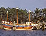 """""""Elizabeth II"""" at Dock, Roanoke Island Festival Park, Outer Banks,"""