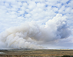 Smoke from Prescribed Burn forming Cumulus Clouds, Pea Island National Wildlife Refuge, Cape Hatteras National Seashore,