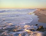 Beach at  Cape Hatteras National Seashore in Early Morning Light, Atlantic Ocean,