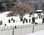 Mountain View Cemetery in Winter, New Salem, MA